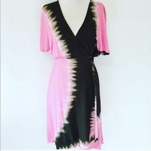 Pink & Brown Diane Von FurstenBurg Wrap Dress